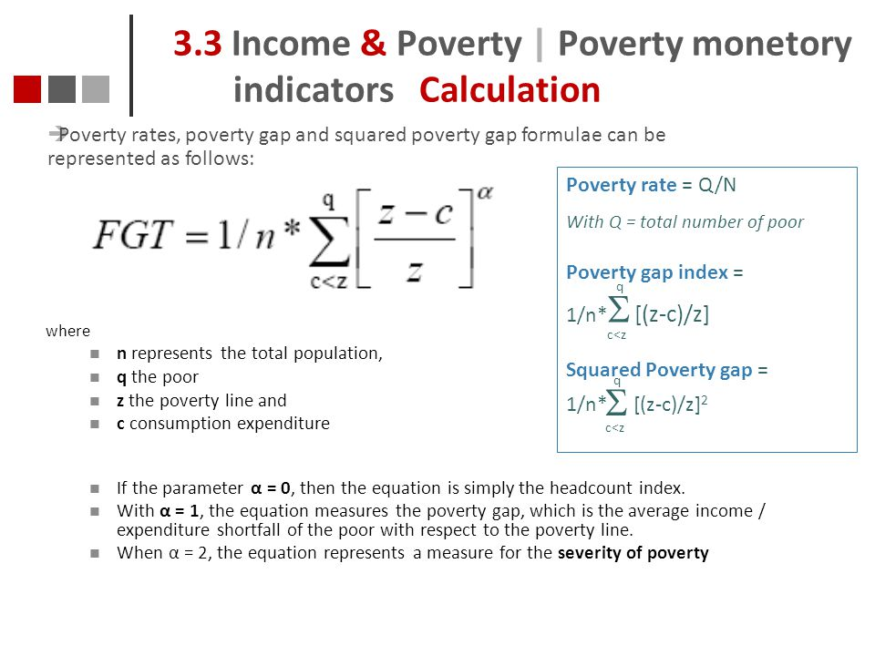 3.3 Income & Poverty | Poverty monetory indicators Calculation