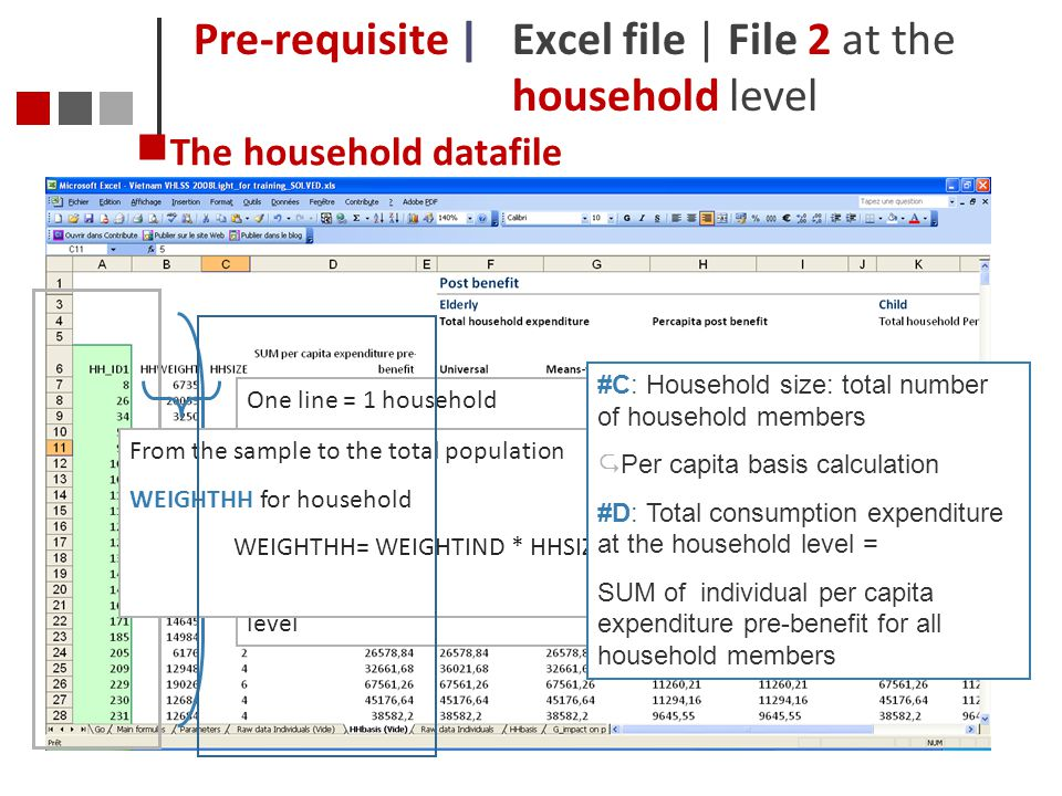 Pre-requisite | Excel file | File 2 at the household level
