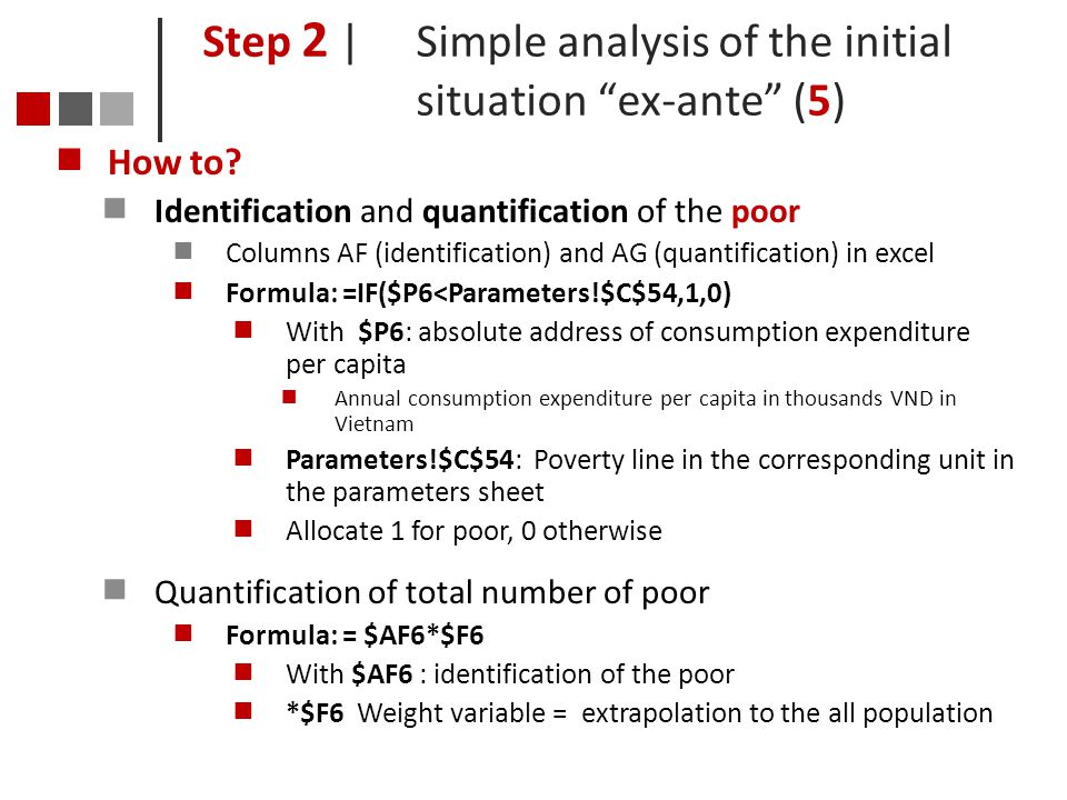 Step 2 | Simple analysis of the initial situation ex-ante (5)