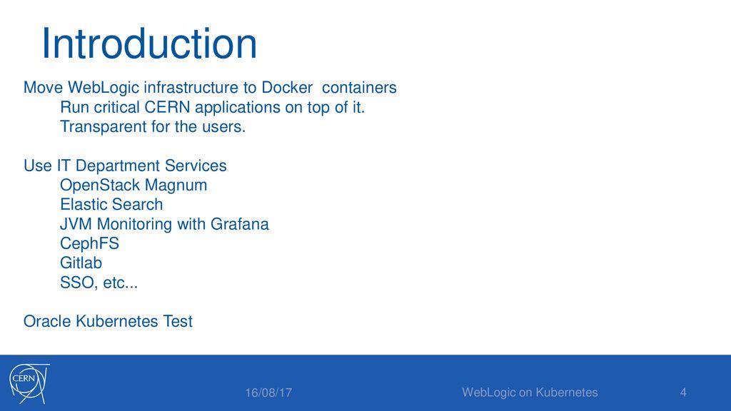 WebLogic on Kubernetes - ppt download