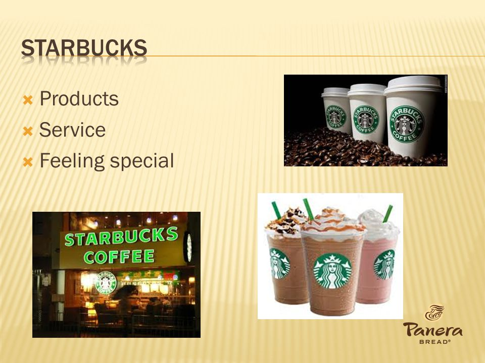 Starbucks Products Service Feeling special