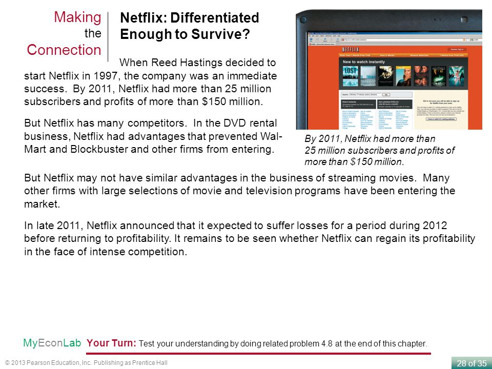 Making the Connection Netflix: Differentiated Enough to Survive