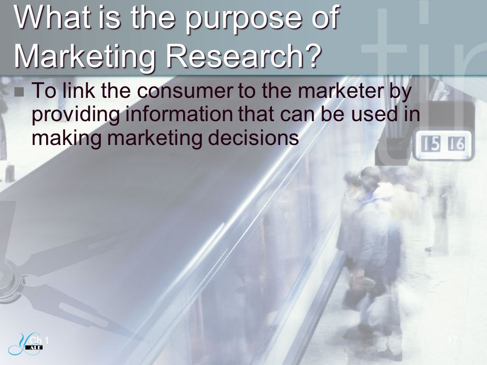 What is the purpose of Marketing Research