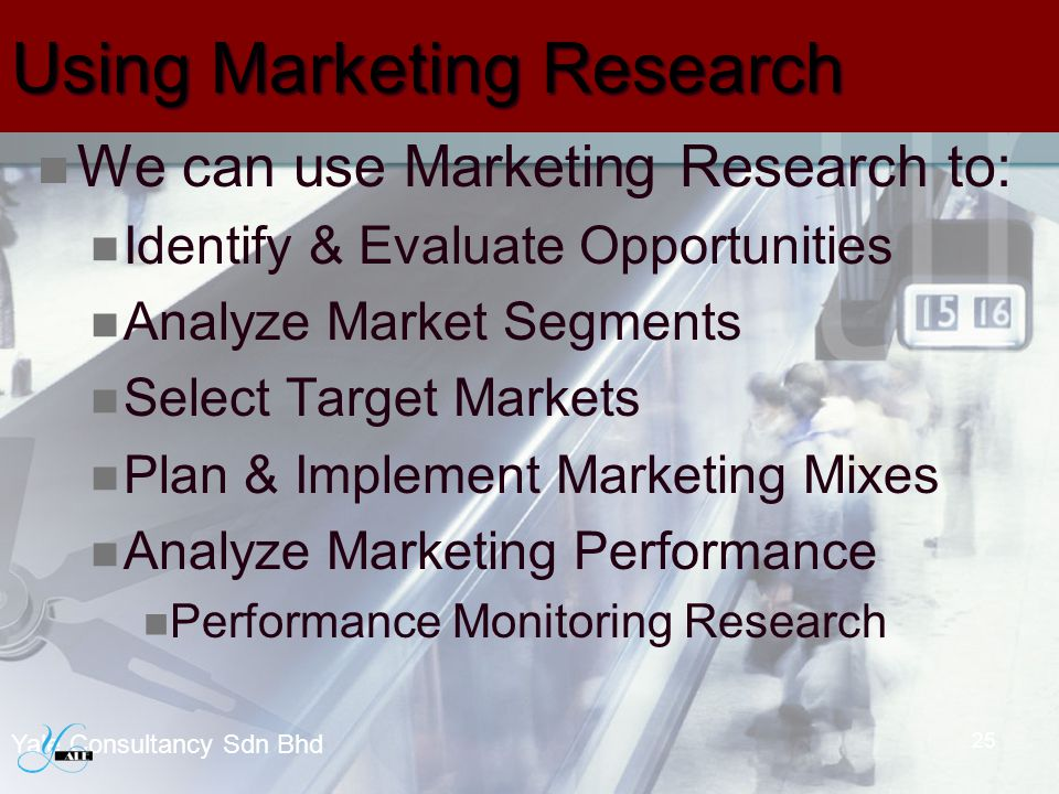Using Marketing Research