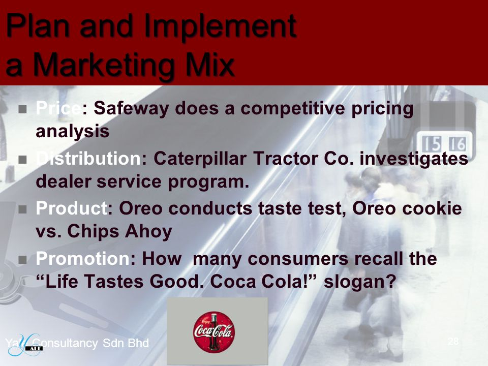 Plan and Implement a Marketing Mix