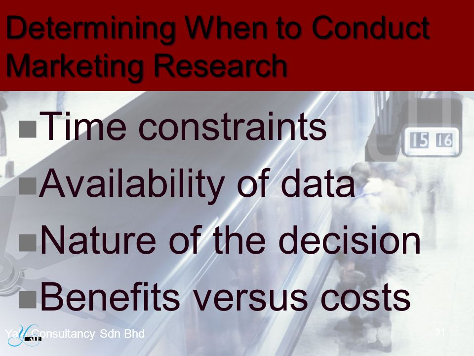 Determining When to Conduct Marketing Research