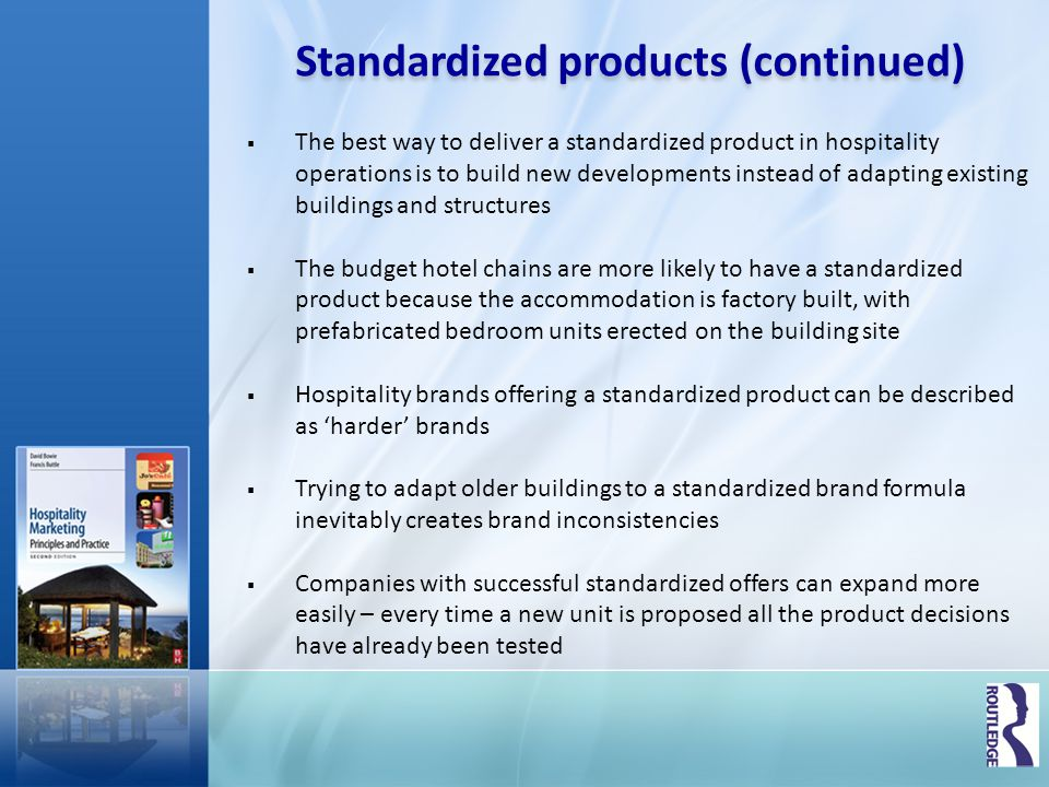 Standardized products (continued)