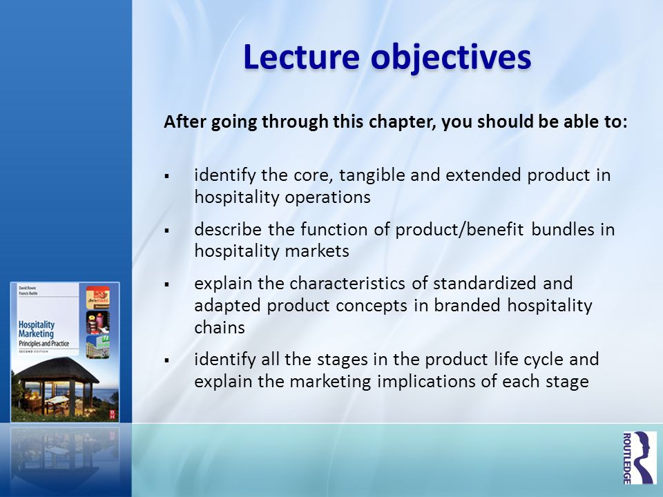 Lecture objectives After going through this chapter, you should be able to:
