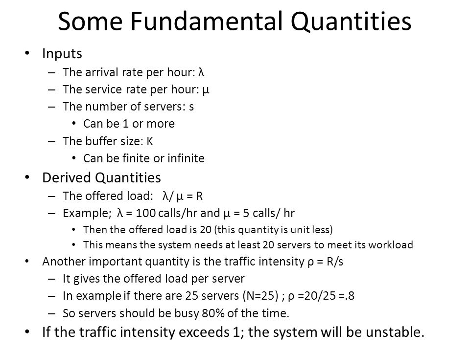 Some Fundamental Quantities