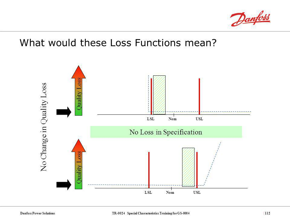 What would these Loss Functions mean