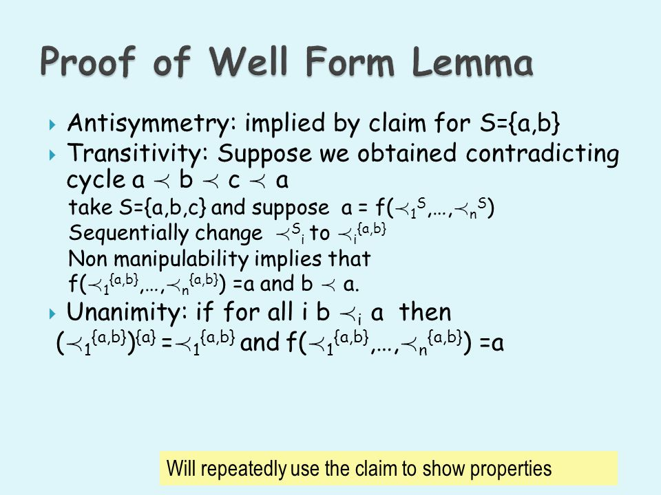 Proof of Well Form Lemma