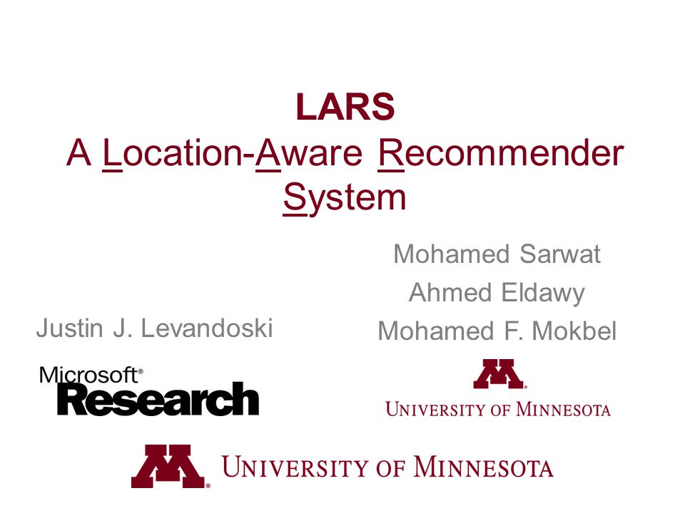 LARS A Location-Aware Recommender System