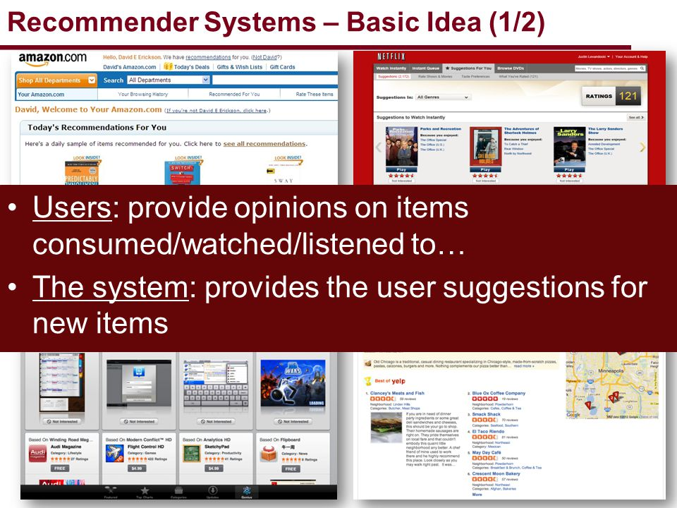Recommender Systems – Basic Idea (1/2)