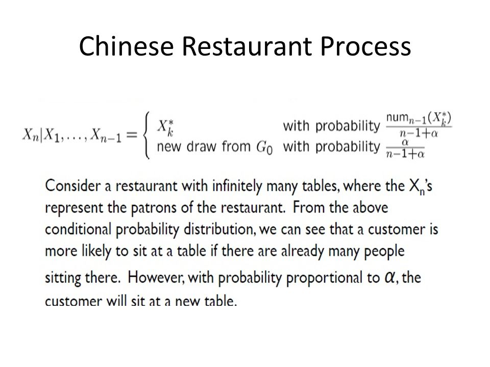 Chinese Restaurant Process