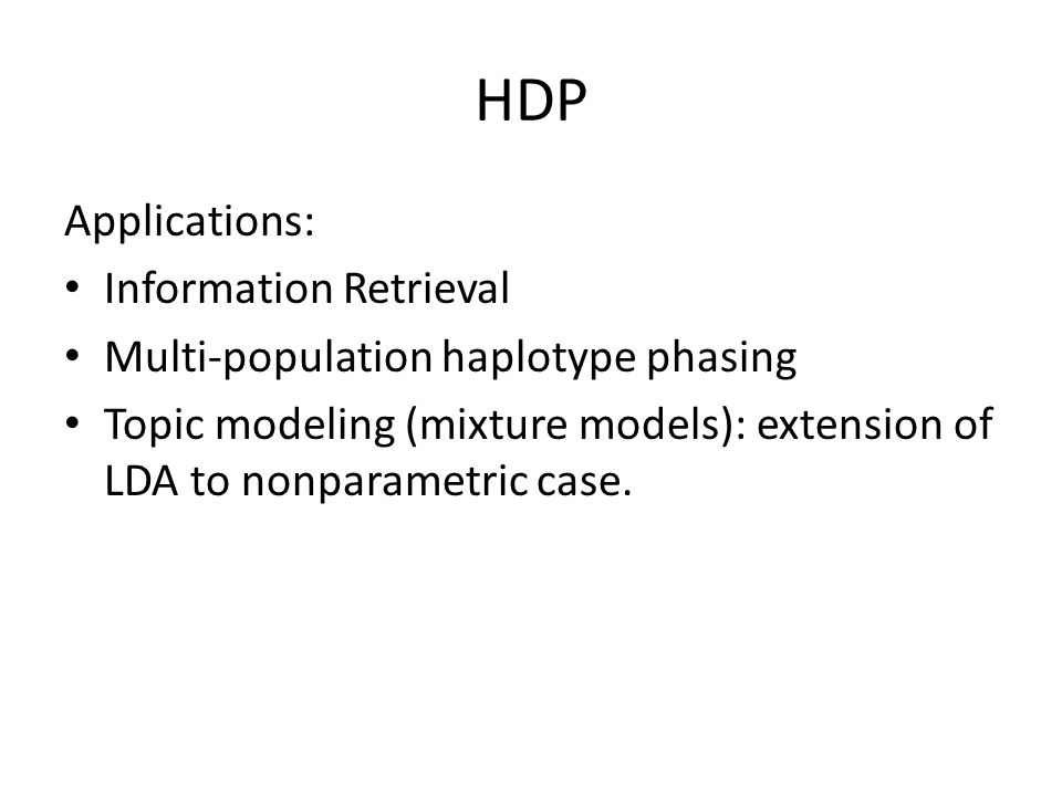 HDP Applications: Information Retrieval