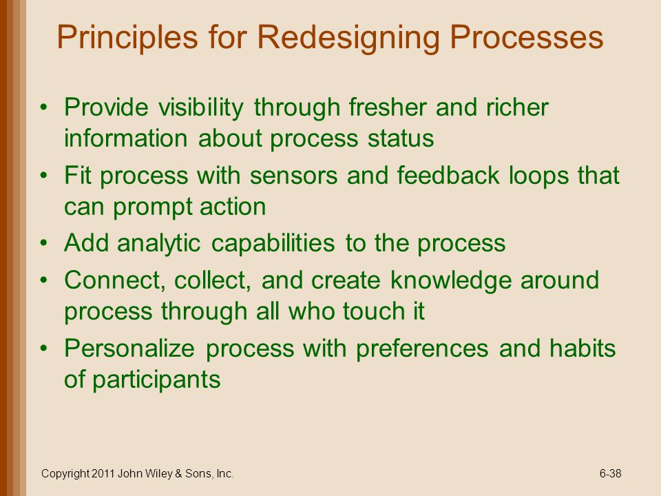 Principles for Redesigning Processes
