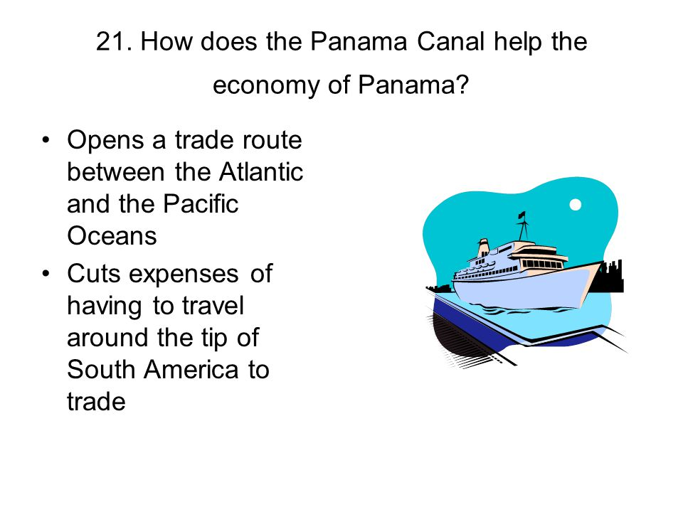 21. How does the Panama Canal help the economy of Panama