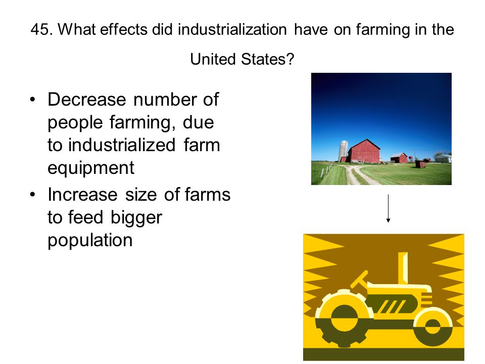 Increase size of farms to feed bigger population