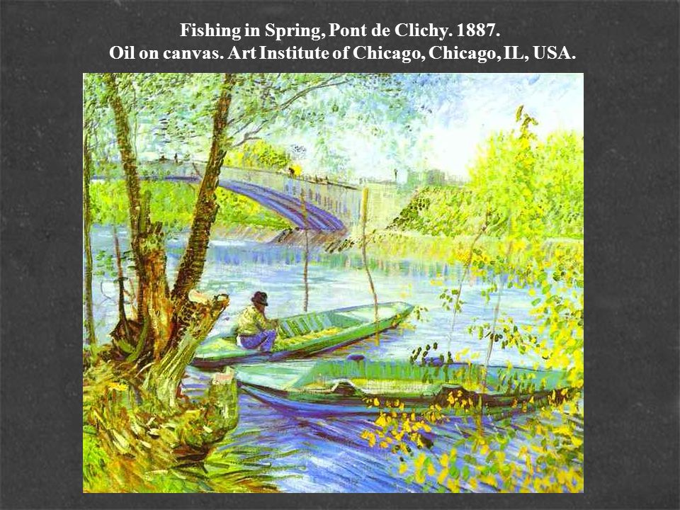 Fishing in Spring, Pont de Clichy. 1887. Oil on canvas