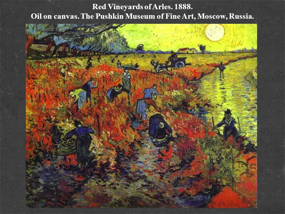 Red Vineyards of Arles. 1888. Oil on canvas