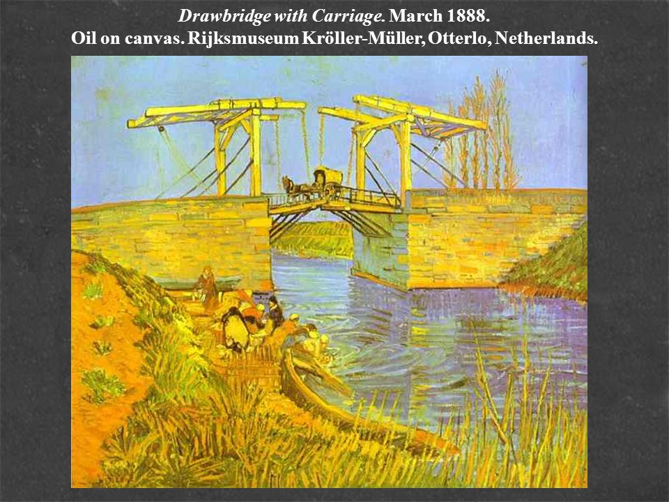 Drawbridge with Carriage. March 1888. Oil on canvas