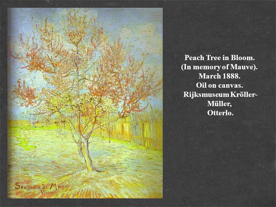 Peach Tree in Bloom. (In memory of Mauve). March 1888. Oil on canvas
