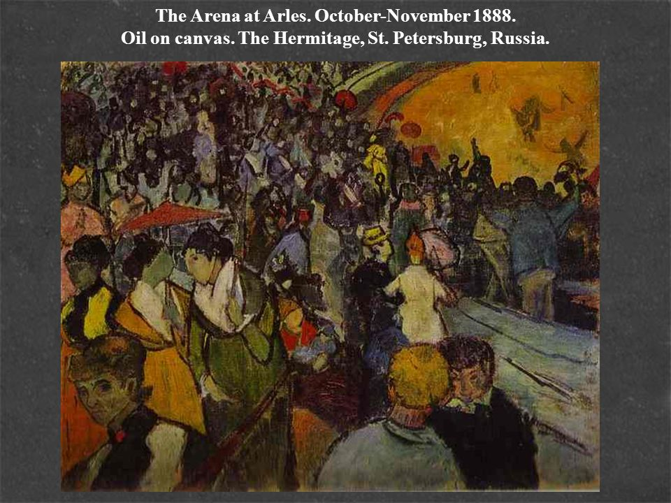The Arena at Arles. October-November 1888. Oil on canvas