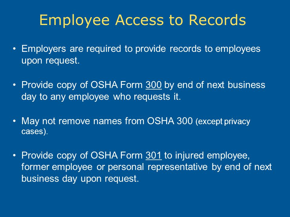 Employee Access to Records