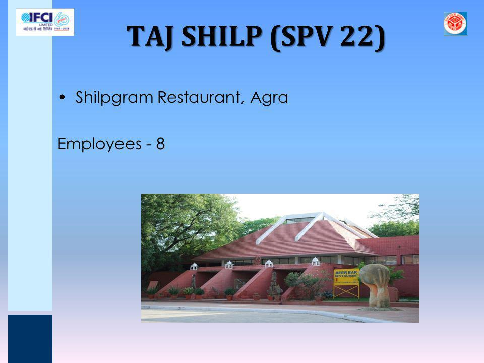 TAJ SHILP (SPV 22) Shilpgram Restaurant, Agra Employees - 8