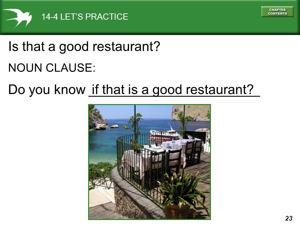Is that a good restaurant