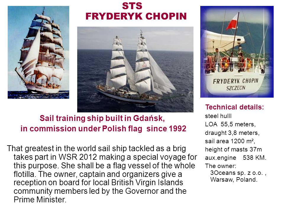 Sail training ship built in Gdańsk,
