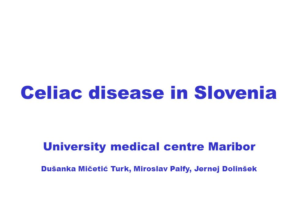 Celiac disease in Slovenia