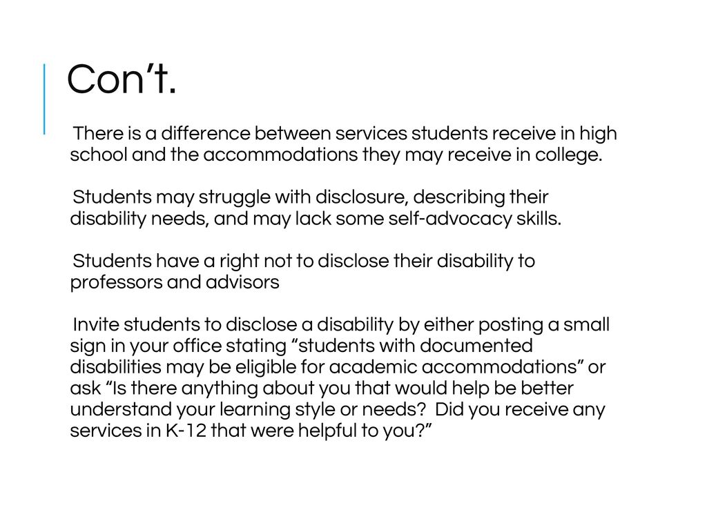 Lack Of College Disability Information >> Creating A Culture Of Access Ppt Download