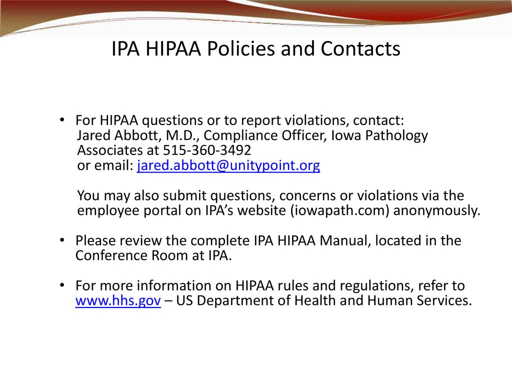 HIPAA/HITECH Privacy and Security - ppt download