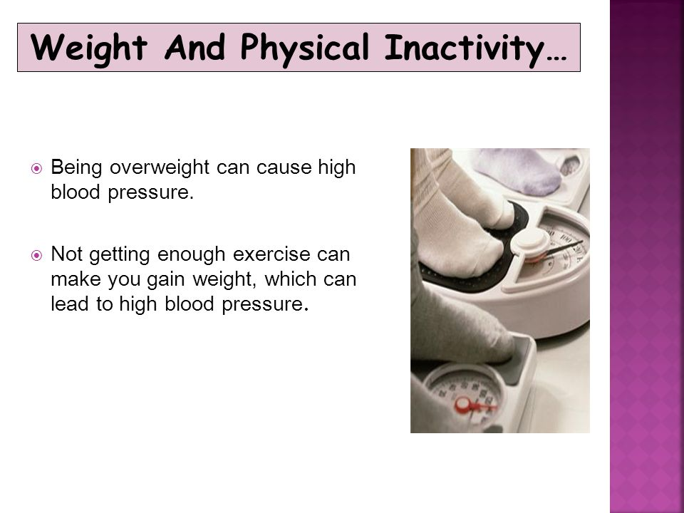 Weight And Physical Inactivity…