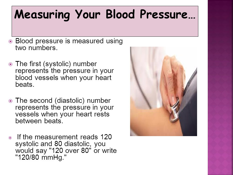 Measuring Your Blood Pressure…