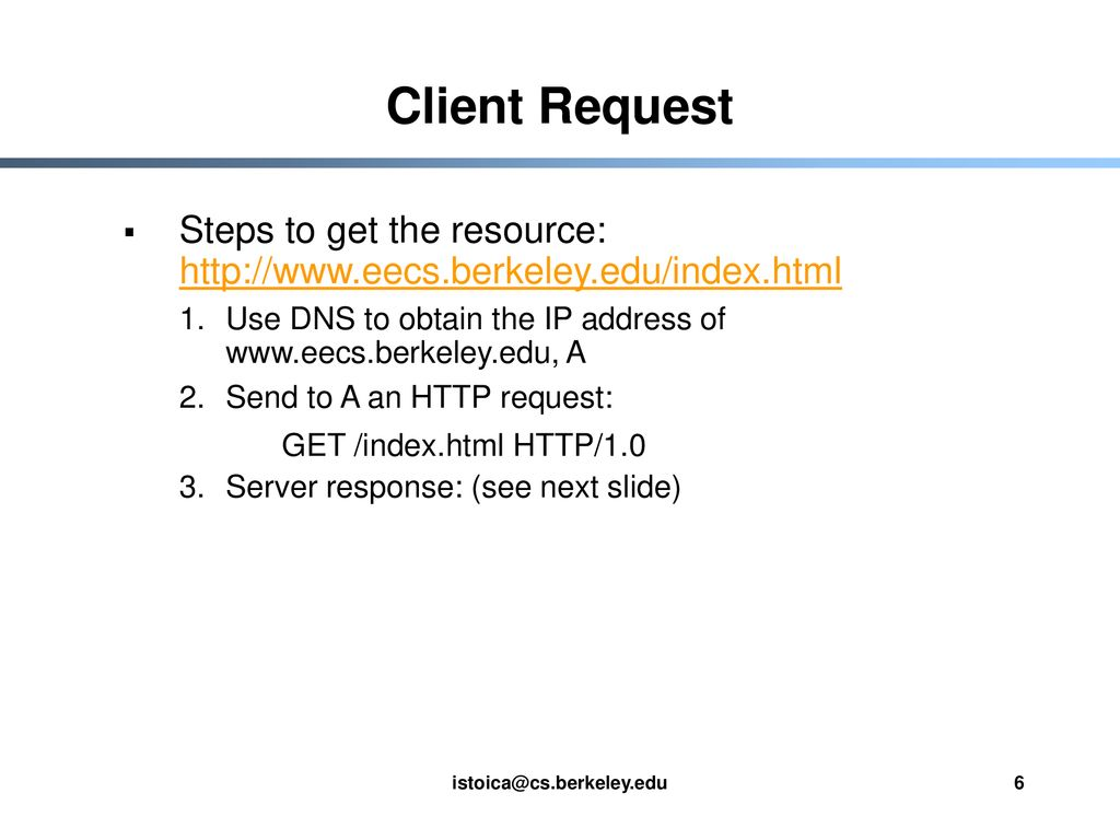 EE 122: HyperText Transfer Protocol (HTTP) - ppt download