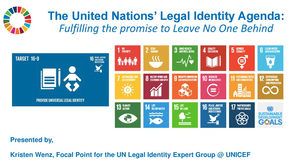 The United Nations' Legal Identity Agenda: Fulfilling the promise to Leave No One Behind