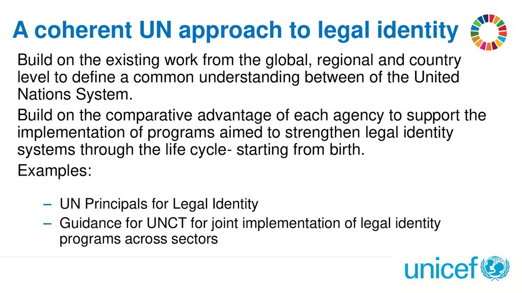 A coherent UN approach to legal identity