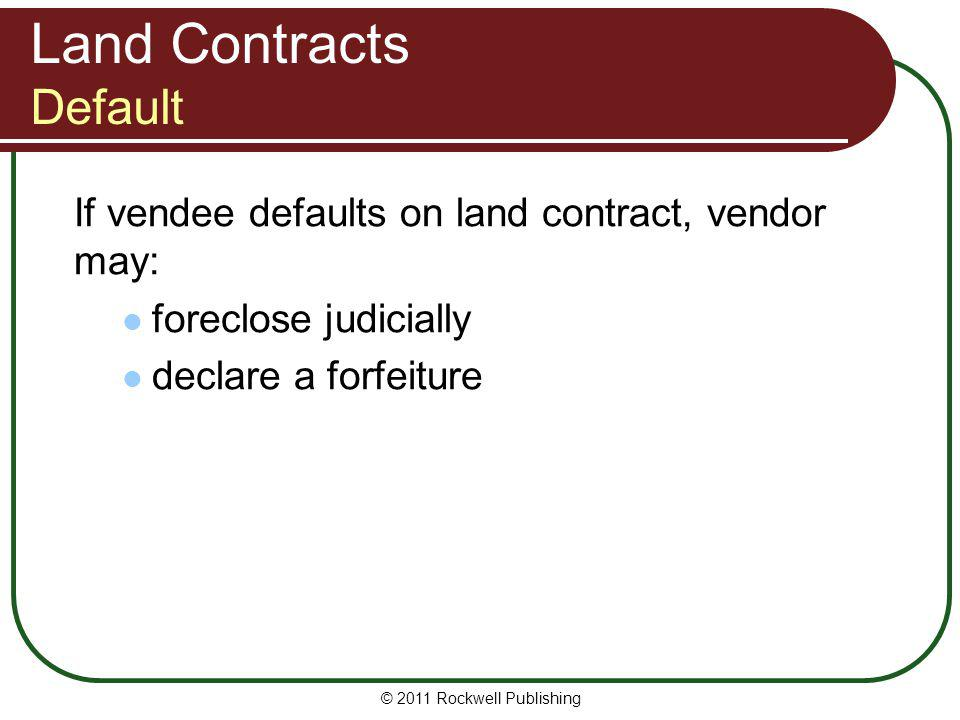 Land Contracts Default