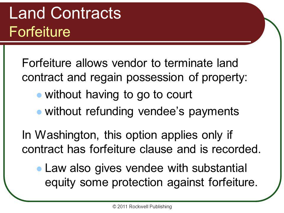 Land Contracts Forfeiture