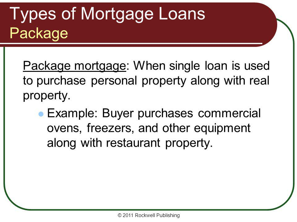 Types of Mortgage Loans Package