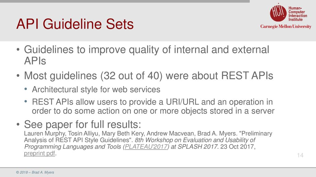 Update on Research on Improving API Usability - ppt download