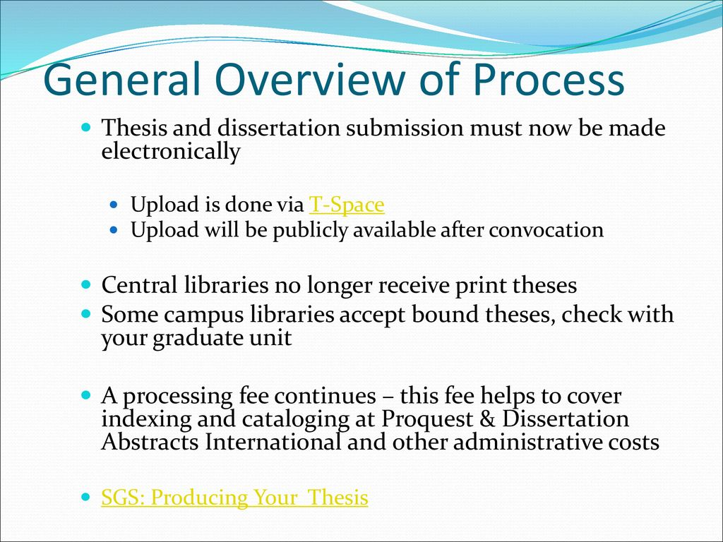 sgs toronto producing your thesis