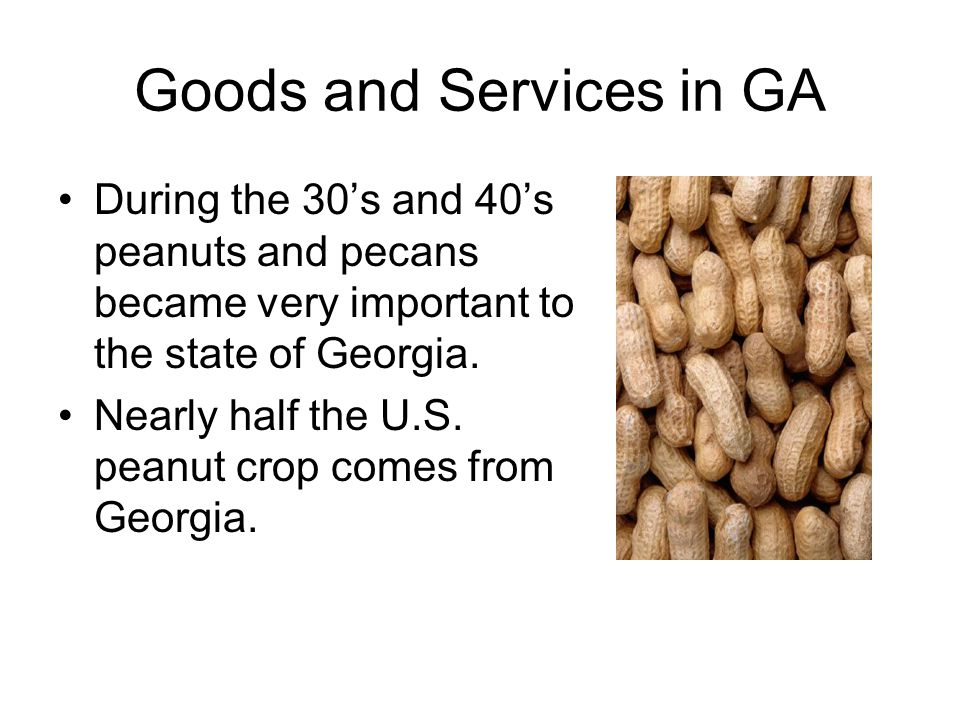 Goods and Services in GA