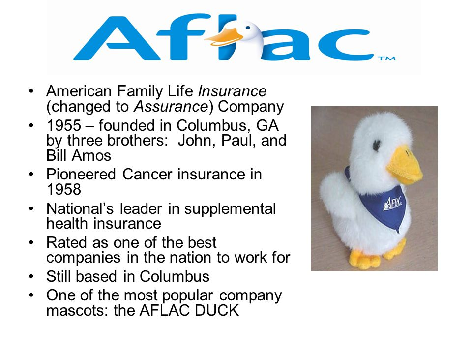 American Family Life Insurance (changed to Assurance) Company