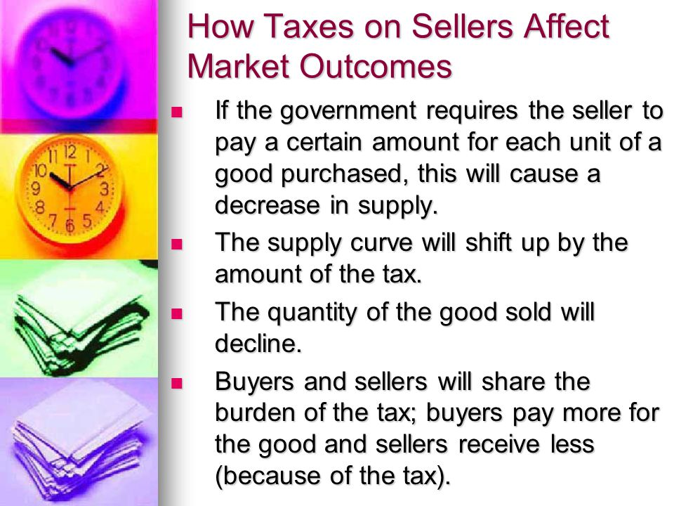How Taxes on Sellers Affect Market Outcomes