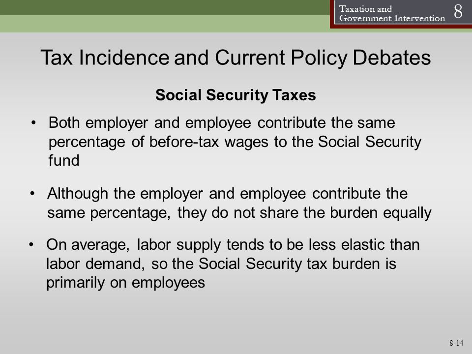 Tax Incidence and Current Policy Debates