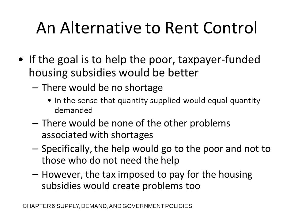 An Alternative to Rent Control