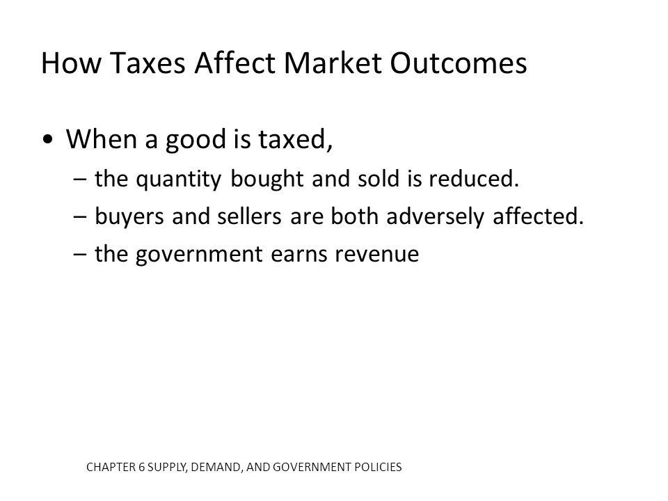 How Taxes Affect Market Outcomes
